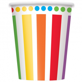 Rainbow Birthday Cups 9oz (8pk)
