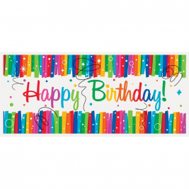 Rainbow Ribbons Happy BirthDay GIANT WALL BANNER 27