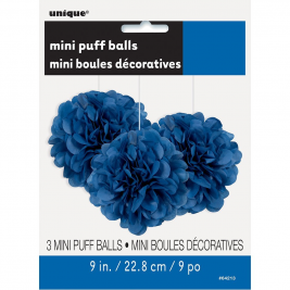 Royal Blue Tissue Puff Decorations 9