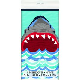 Shark Party Plastic Tablecover 54