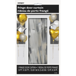 Silver Foil Metallic Fringe Door Curtain