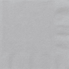 SILVER LUNCHEON NAPKINS - Pack of 50