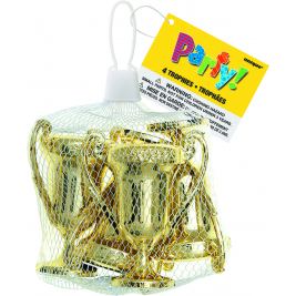 Award Trophies Party Bag Fillers, Pack of 4