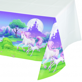 Unicorn Fantasy Plastic Tablecover Border Print