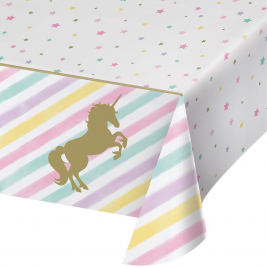 Unicorn Sparkle Plastic Tablecover with  All Over Print 54
