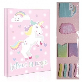 UNICORN Sticky Note Set 'Believe in Magic'  Die Cut Sticky Notes
