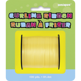 YELLOW CURLING RIBBON ROLLS 100 YDS